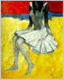 Title: 'Dancer' | Size : 3ft X 4ft | Medium: Acrylic on Canvas