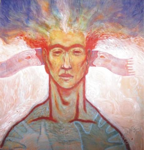 Title: 'Eyes Wide Open' |Size: 4ft X 4Ft | Medium: Acrylic on Canvas