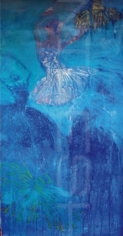 Title: 'Rain' | Size: 1ft X3ft | Medium: Acrylic on Canvas