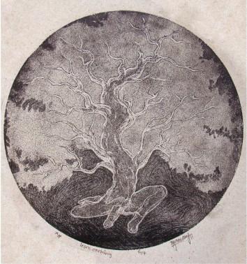 Title: 'Tree' | Medium: Aqua Tint