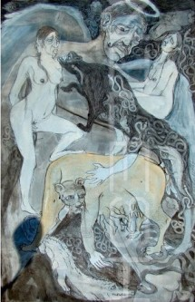 Title: 'Untitled'   Size: - 76cm X 55cm  Medium: Ink on Paper