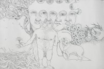 Title: 'Desires'   Size: A3   Medium: Ink on Paper
