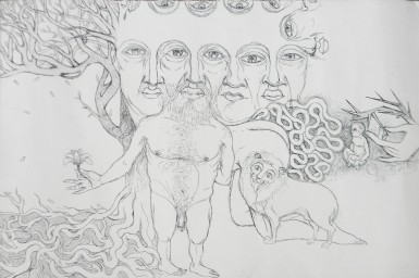 Title: 'Desires' | Size: A3 | Medium: Ink on Paper