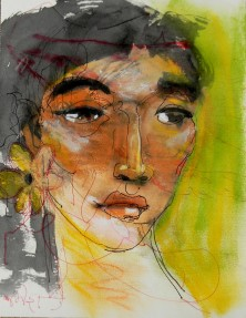 Title: 'Untitled' | Size : A4 | Medium: Mixed Media on Paper
