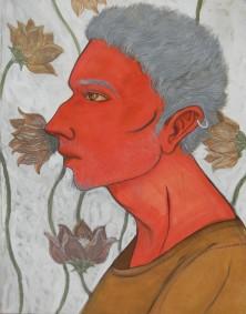 Title: 'Portrait' | Size: A3 | Medium: Gosh on Paper