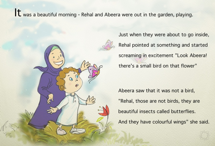 Excerpt from an illustration work of a children's book