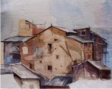 Title: 'Landscape' | Size: - | Medium: Watercolour on Handmade Paper