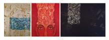 "(3 Piece Set) Title: 'Moods'   Size : 35.24""X11.81""   Medium: Acrylic on Canvas"