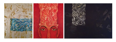 "(3 Piece Set) Title: 'Moods' | Size : 35.24""X11.81"" | Medium: Acrylic on Canvas"